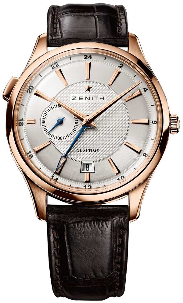 Золотые часы Zenith Captain Dual Time