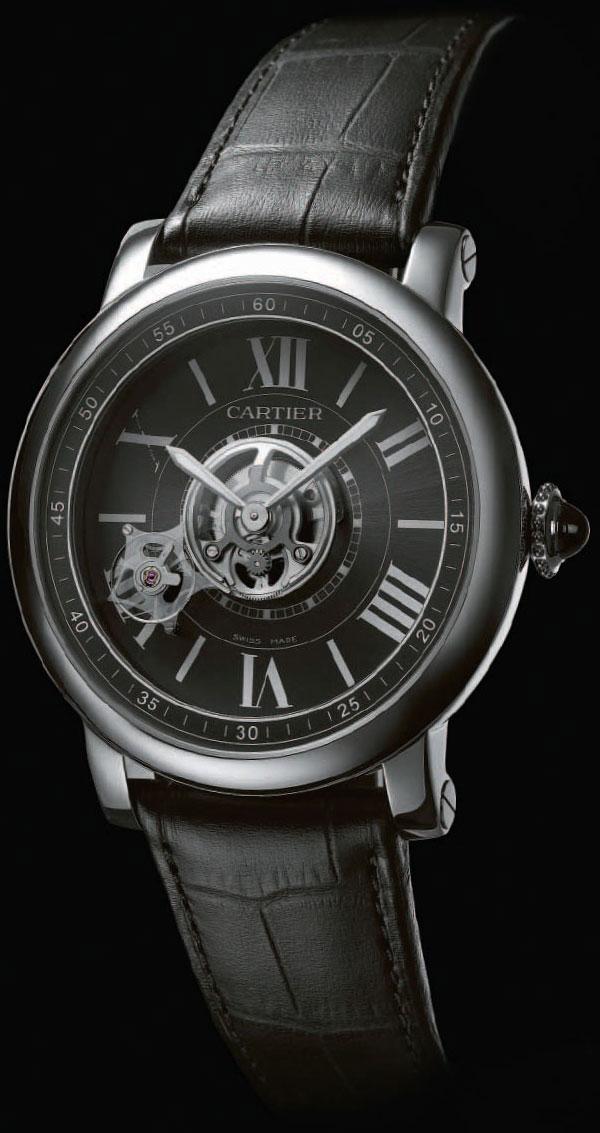 Обзор часов Cartier Astrotourbillon Carbon Crystal