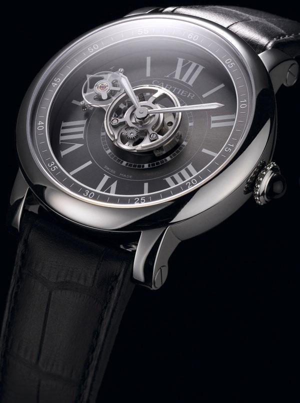 Брендовые часы Cartier Astrotourbillon Carbon Crystal