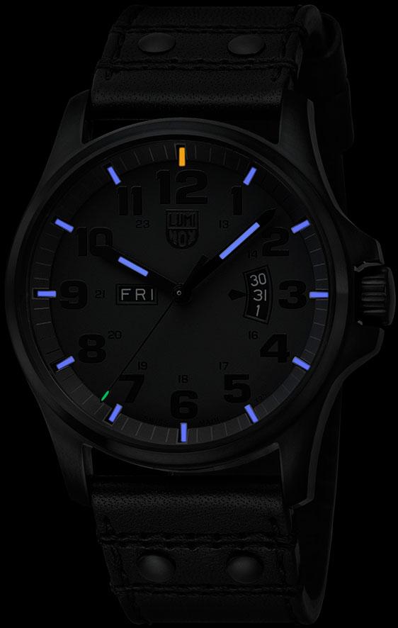 Обзор швейцарских черных часов Luminox Field Day Date 1820