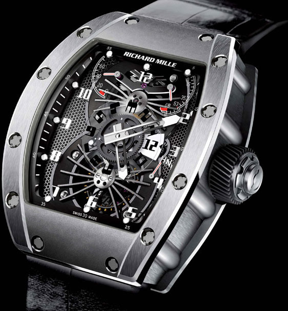 Обзор мужских часов Richard Mille RM022 Tourbillon Aerodyne Dual Time Zone