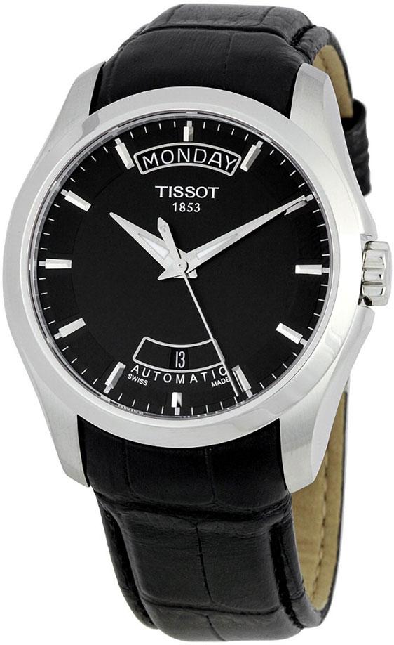 Мужские часы Tissot Couturier Black Dial T0354071605100