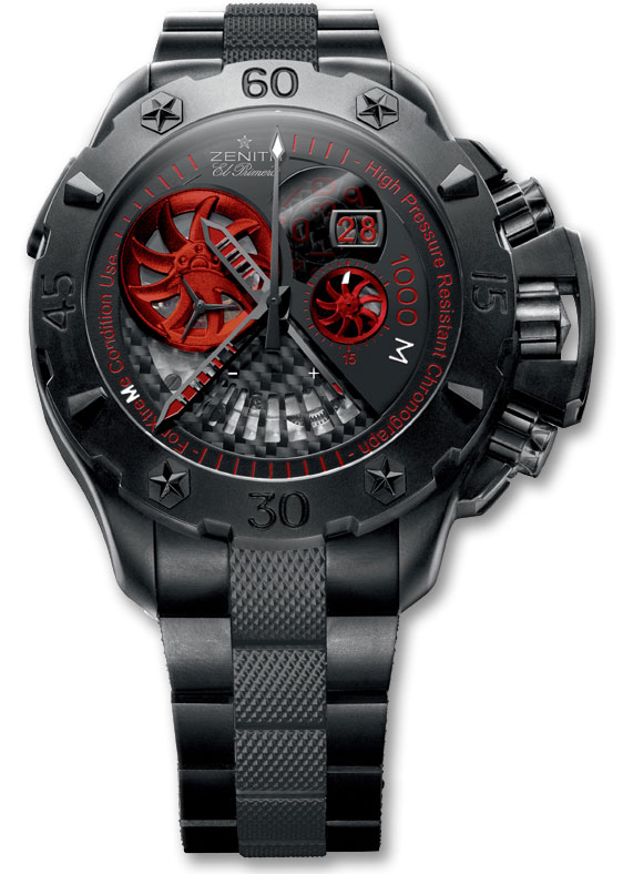 Обзор часов Zenith Defy Xtreme Open Grande Date Stealth Black Titanium