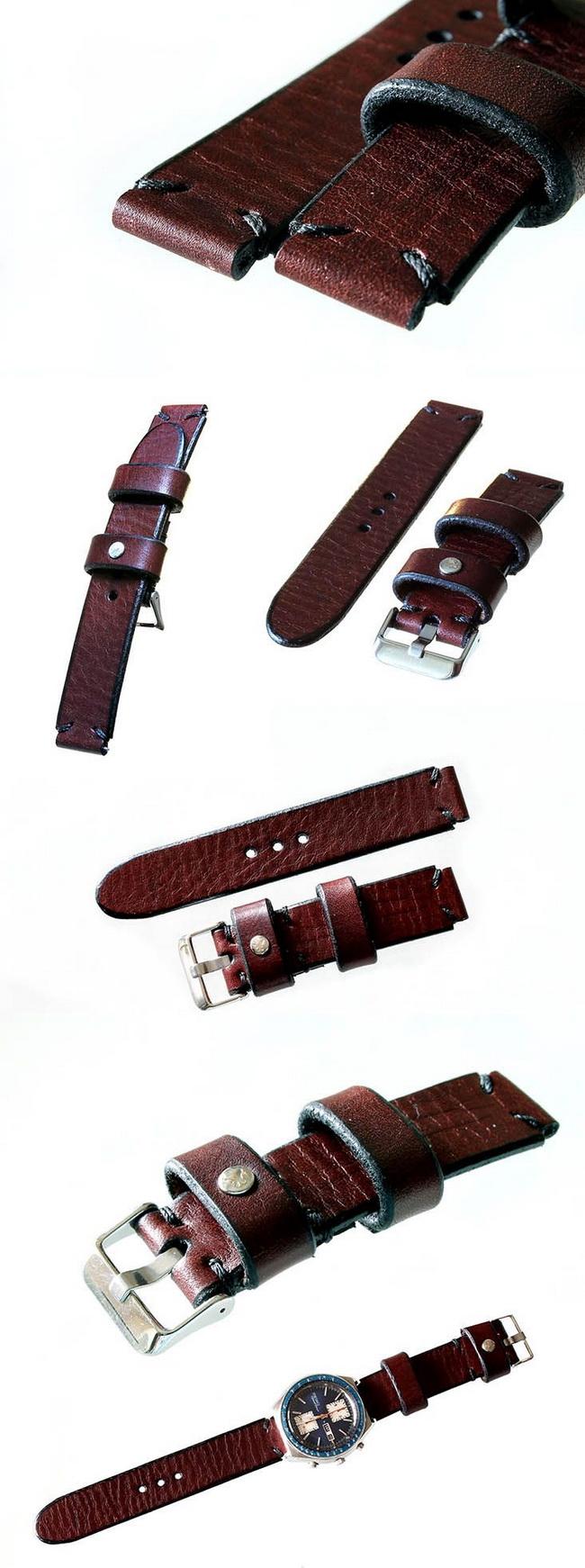 Кожаные ремешки HandMade для наручных часов